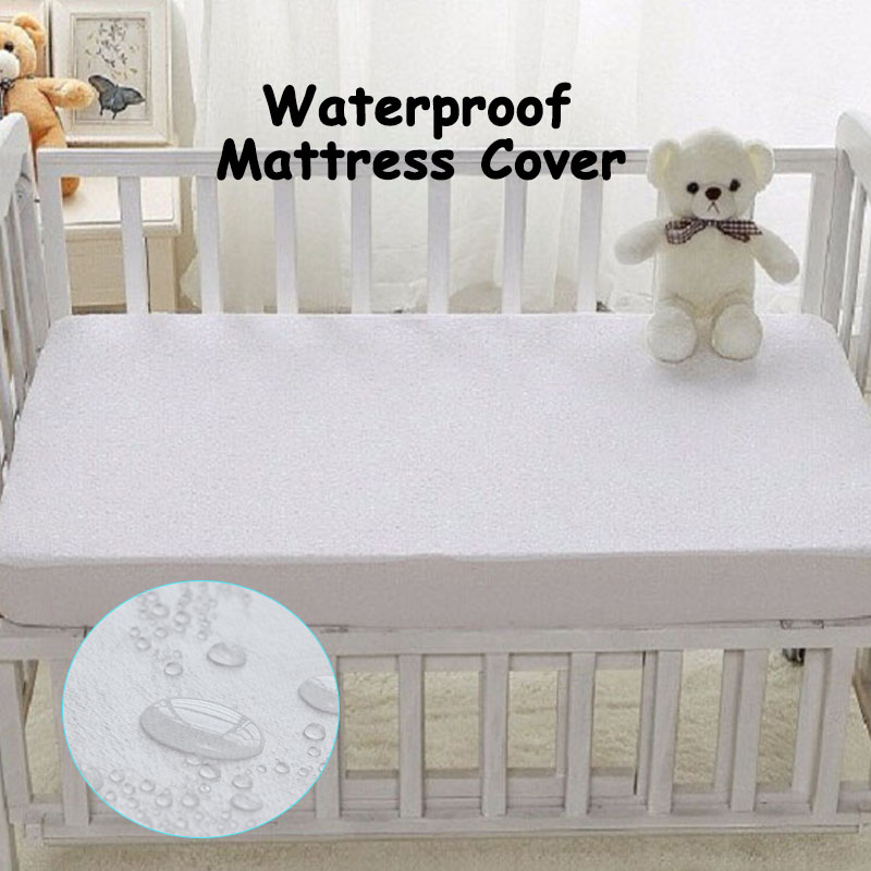 Size 72*132cm Baby Mattress Cover Vingl-Free All Natural Waterproof Topper Style On Elastic Against Perspiration Liquids Stains