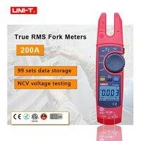 UNI T UT256B Digital True RMS Fork Auto Multimeter NCV Tester 200A AC DC Current Clamp Meters Voltmeter Ohm Cap Auto Range
