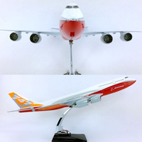 45cm airplane model toys Boeing B747 800 aircraft model 1/150 scale diecast plastic alloy plane with base F display collective