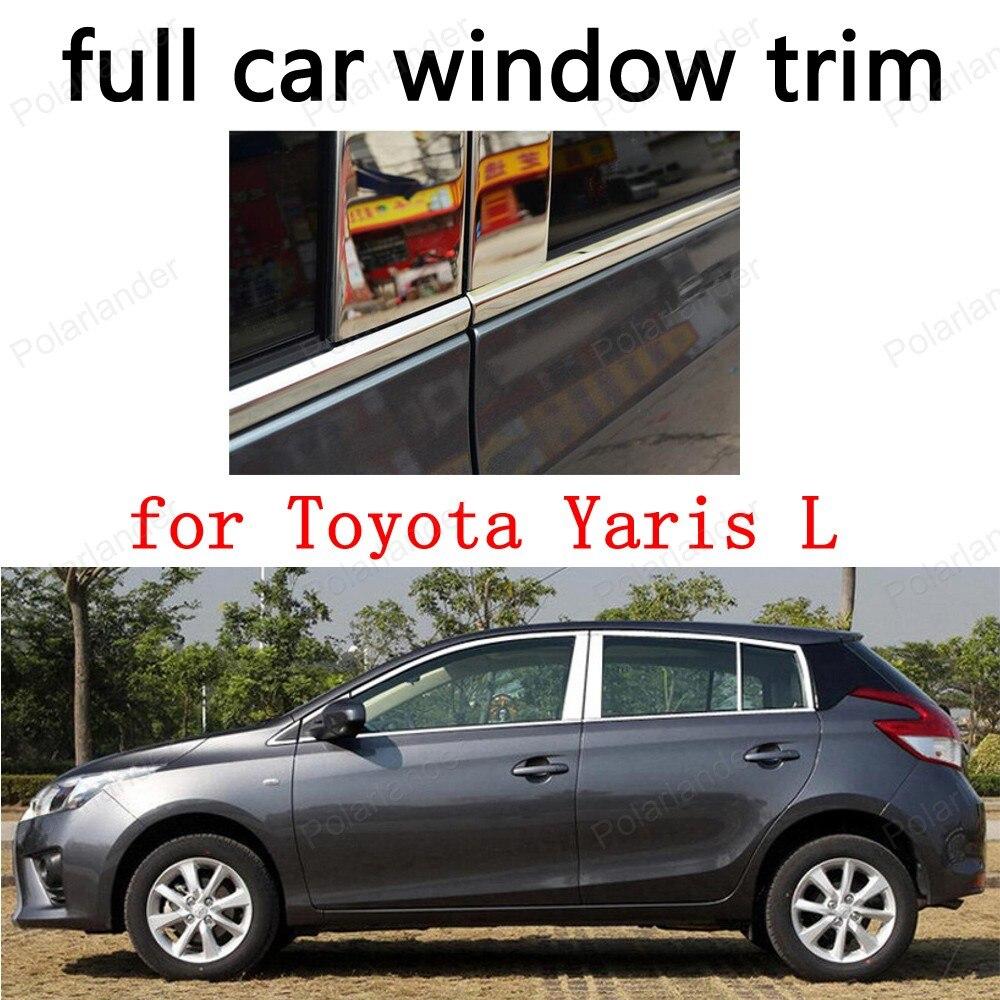 Car Exterior Accessories Window Trim For Toyota Yaris L