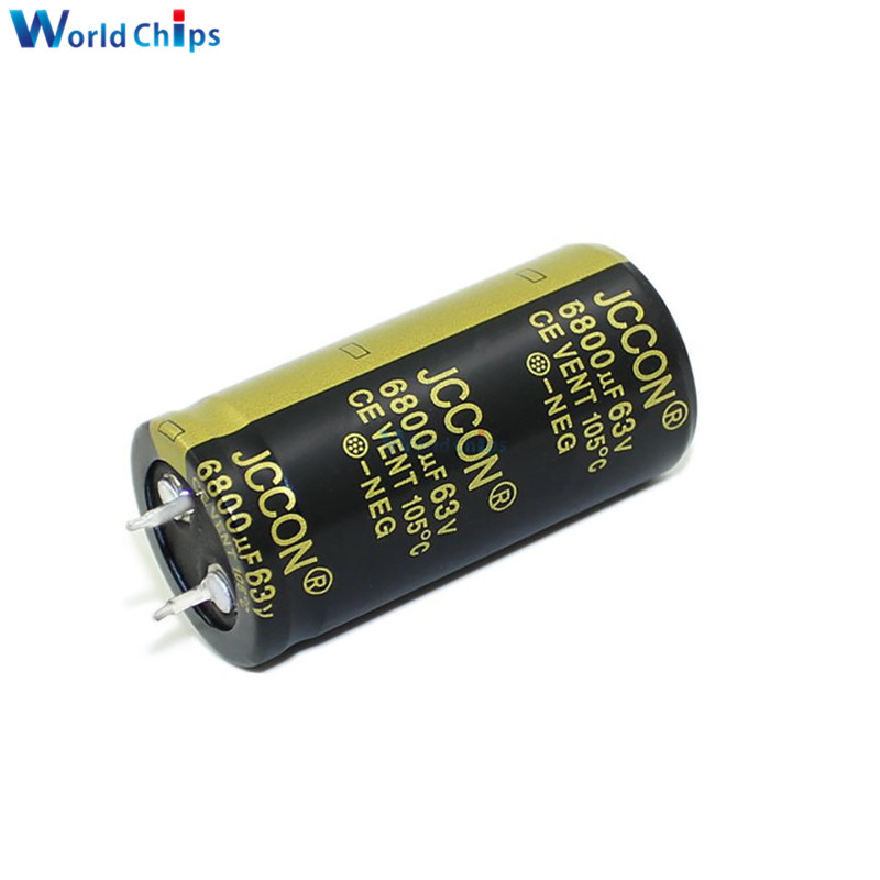 diymore 63V 6800uF 25X50mm Aluminum Electrolytic Capacitor High Frequency Low ESR 63V6800uF 25*50mm Through Hole Capacitor image