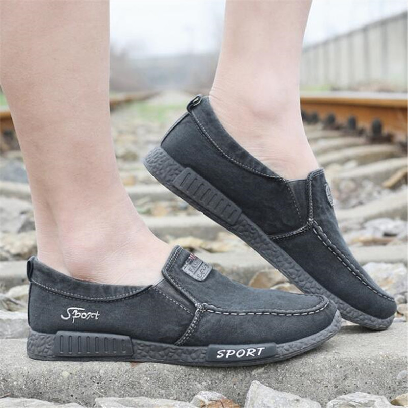 2019 Fashion Canvas Shoes Men Casual Shoes Summer Breathable Comfortbale Espadrilles Sneakers Men Flats Shoes Big Size in Men 39 s Casual Shoes from Shoes