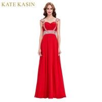 Cheap Long Bridesmaid Dresses Cap Sleeve Crystal Beaded Royal Blue Red Champagne Green Bridesmaid Dress For
