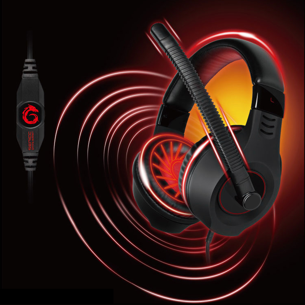 Clearance Somic G9 Plus 3.5mm Plug Gaming Headset OFC Audio Cable Headphone With Microphone Voice Control For PC Smartphone