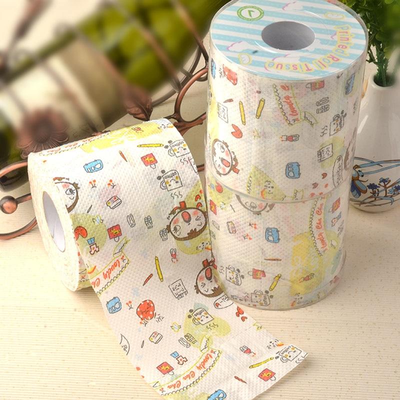2Packs 60m Lovely Girl Cute Kawaii Coffee Design Printing Paper Toilet Tissues Roll Toilet Paper Novelty Toilet Tissue Wholesale