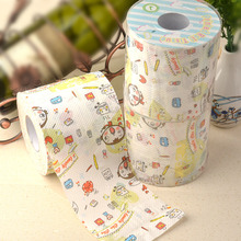 2Packs 60m lovely girl cute kawaii coffee design Printing Paper Toilet Tissues Roll Novelty Tissue Wholesale