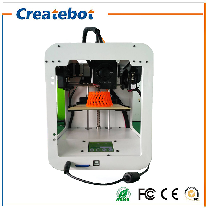 White Createbot Semi-Automatic Leveling 3D Printer Machine 200G Filament+SDCard Best cost-effective Child Super Mini 3D Printer high precision createbot super mini 3d printer no assembly required metal frame impresora 3d 1roll filament 1gb sd card gift