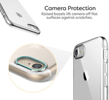"""Transparent TPU Case+HD Screen Protective Film For iPhone 7 7 Plus Clear Crystal Back Case Cover 4.7"""" 5.5"""" inch"""