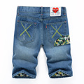 2016 Shorts Men Fashion Casual Mens Jean Shorts Cotton Straight Ripped Designer Shorts Bermuda Homme Mens Capris Size 28-38