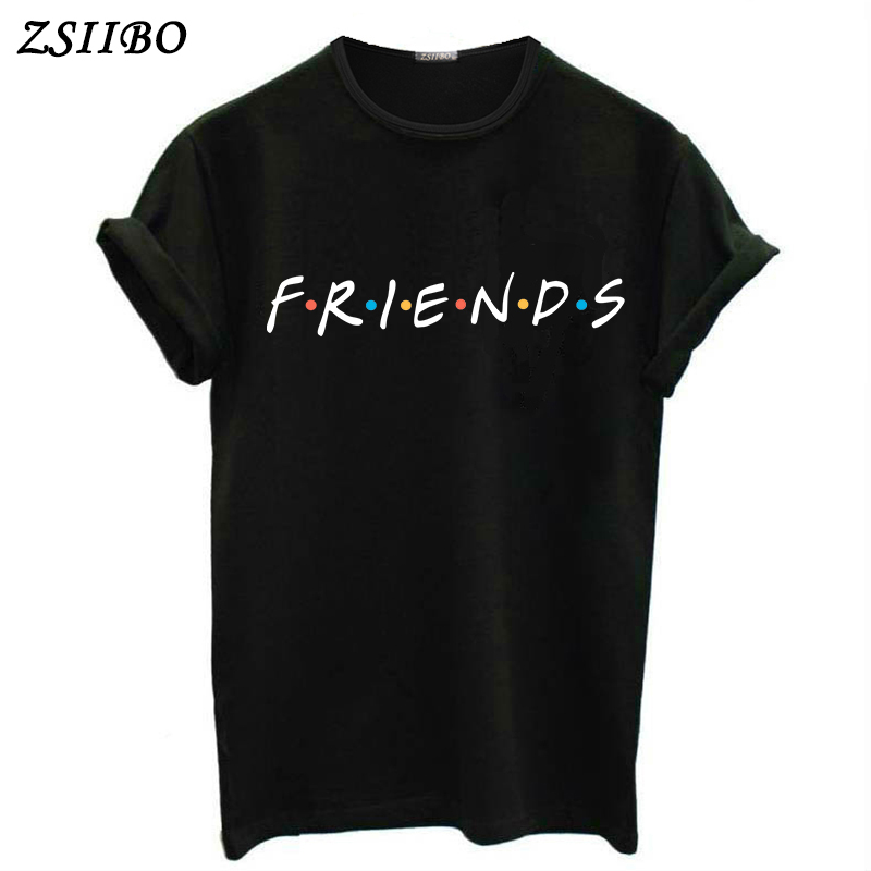 FRIENDS Letter t shirt Women tshirt  Casual Funny t shirt For Lady Girl Top Tee Hipster Drop Ship 1