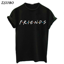 FRIENDS Letter t shirt Women tshirt Cotton Casual Funny t shirt For Lady Girl Top Tee Hipster Drop Ship