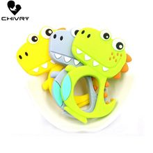 Chivry Cute Cartoon Baby Teether Food Grade Silicone Animal Raccoon Shape Teething Necklace Toys DIY Newborn Gifts