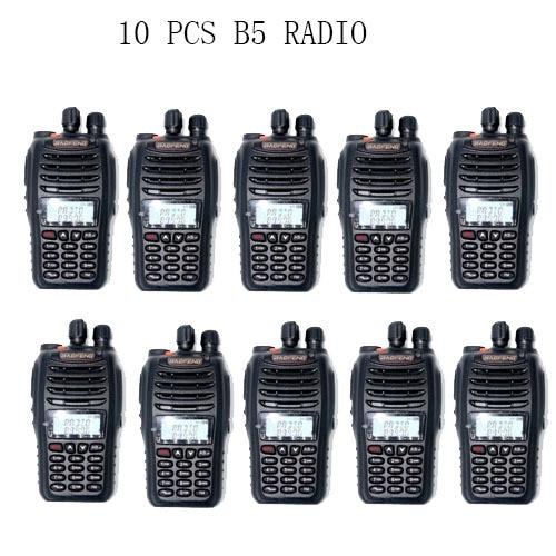 10 PCS Baofeng UV-B5 5W 99CH UHF+VHF HF Transceiver Ham Radio Transceiver Portable Two Way Radio / Earpice As Gift