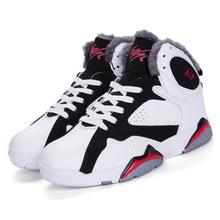 reputable site 05e14 5469b Hiver de Neige Chaud High Top Chaussures de Basket-Ball En Peluche  Confortable Qualité Hommes Femmes Trekking Sneakers Couple Ba.