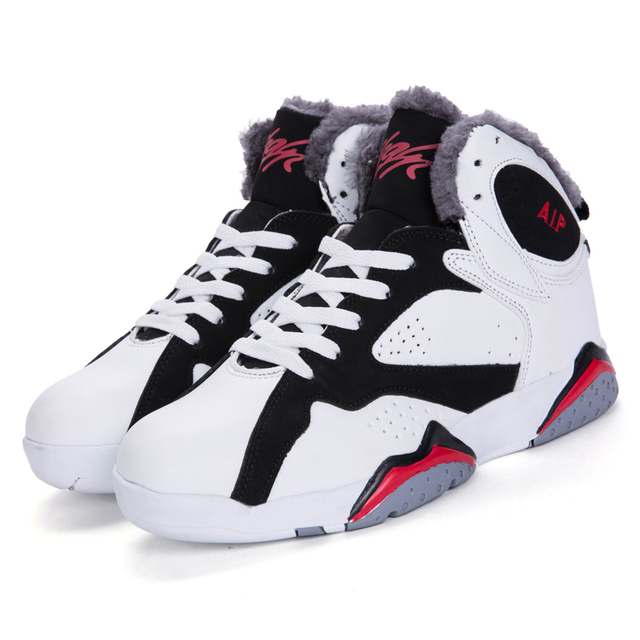 Winter Snow Warm High Top Basketball Shoes Plush Comfortable Quality Men Women Trekking Sneakers Couple Basket Ball Shoes Tide