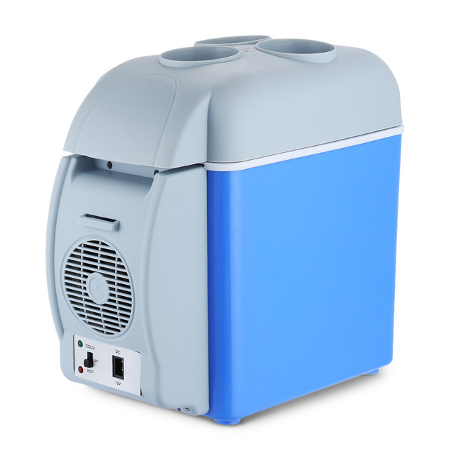 US $36 75 10% OFF|GBT 3008 Portable 12V 7 5L Auto Travel Refrigerator Cool  and Heat Car Mini Fridge ABS Home Cooler Freezer Warmer with 3 Holes-in