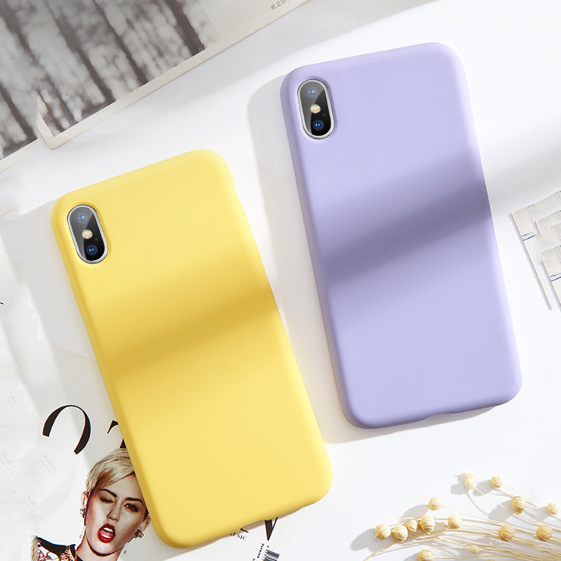 Image 2 - Lovebay High Quality Liquid Silicone Cases For iphone 7 6 6S 8 Plus XS Max XR X Fashion Shockproof Colorful Phone Case Cover-in Fitted Cases from Cellphones & Telecommunications