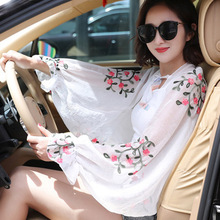 summer Chiffon Scarf For Women Ruffles Long Sleeve Poncho Stole women Shawls driving Sunscreen|Women's Scarves| |  - AliExpress