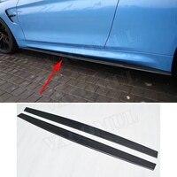 Автомобильный Стайлинг углеродного волокна сторона юбки фартук для BMW F82 F83 M4 купе 2 двери F80 M3 седан 2012 2017