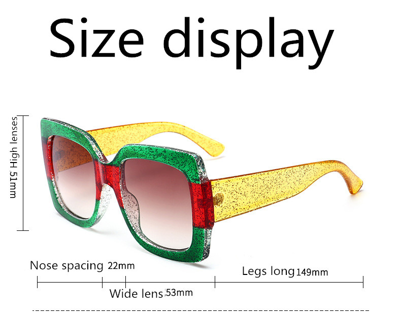 ASUOP2018 new retro large frame fashion sunglasses luxury classic men driving glasses ladies travel color UV400 cat eye goggles  (8)