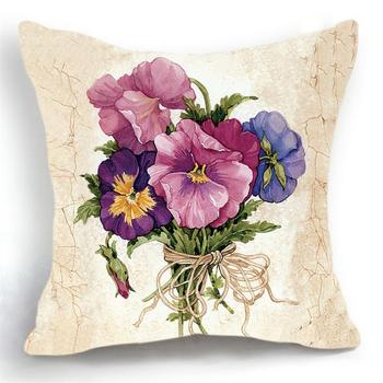 Maiyubo Luxury Flower Vase Pillow Cushion Cover Plant Home Decor cojines decorativos para sofa Vintage Modern Cusion Cover PC203