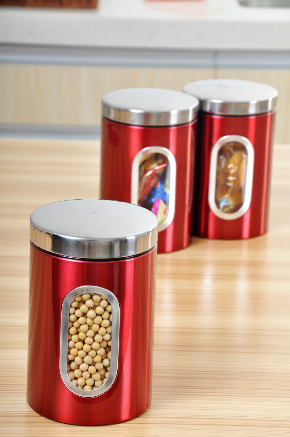 red kitchen canisters latest five french enamel kitchen canisters