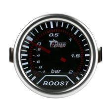 12 В 2 дюймов(50 мм) универсальный Bar манометр наддува автомобилей Красный светодиод Turbo Boost Пресс Калибр метр бар указатель