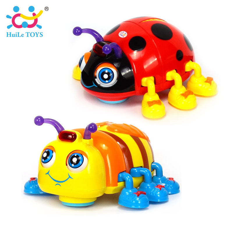 HUILE JOUETS 82721 Bébé Jouets Infantile Crawl Beetle Électrique Jouet Abeille Coccinelle avec La Musique et Lumière Jouets D'apprentissage pour les Enfants cadeaux de noël