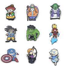 V115 The Film Superhero Iron Man Metal Enamel Pins and Brooches Fashion Lapel Pin Backpack Bags Badge Collection Gifts 1pcs