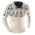 2016 высокое качество осень зима мужская мода свитер пуловер свитер мужской повседневная одежда бренда Рождественские Свитера Трикотаж