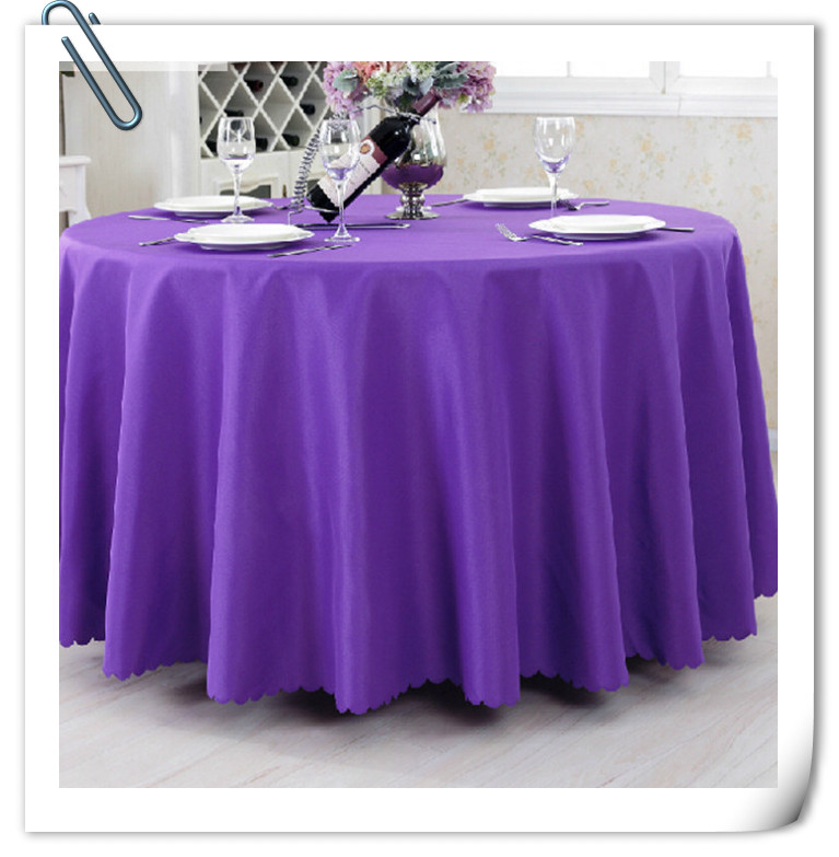 90inch 10pcs tablecloth table linen purple for banquet - Discount Table Linens