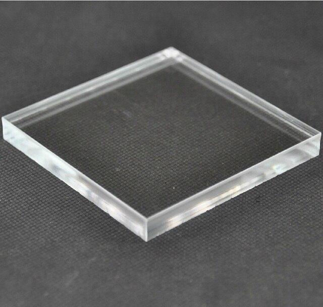1x100x100mm 10pcs acrylic plexiglass clear sheet plastic transpenr