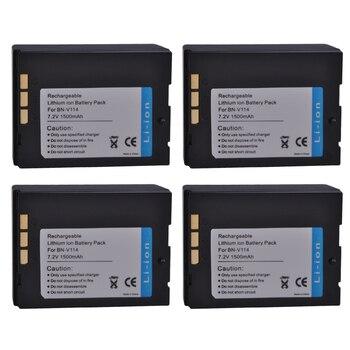 4Pcs BN-V114, BN-V114U BNV114, V114U Battery for JVC GR-DVP1 GR-DX100EK GR-DVP3 GR-DX106 GR-DX48 GR-DVP3 ST GR-DX107 GR-DX55 фото