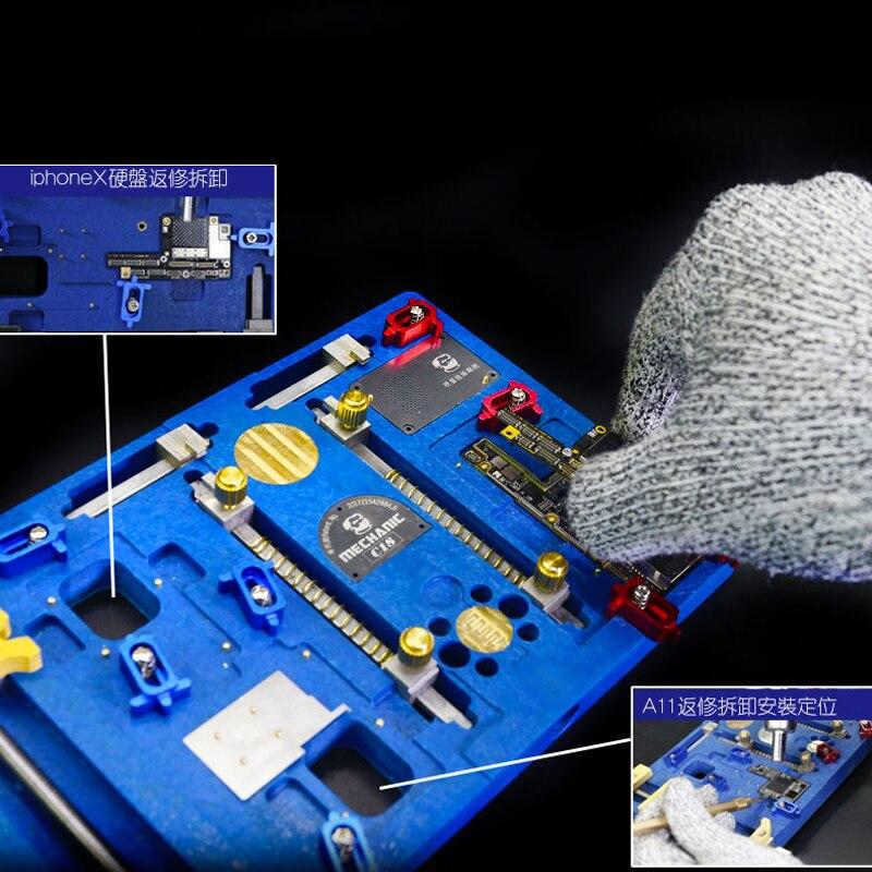 Mecânico C18 Plataforma de Retrabalho Solda Suporte de Aquecimento Elétrico Multifuncional de Alta Temperatura Para o iphone X - 2