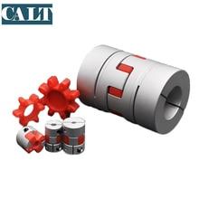 цена на Customized CNC Motor clamping Jaw spider plum Shaft Coupler Flexible Coupling D80 L114  35*35mm