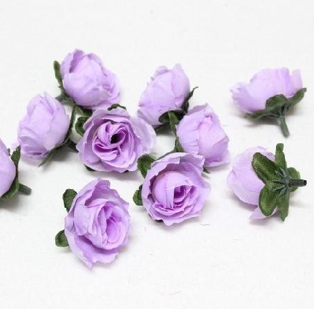 Light purple silk flower with green leaves simulation artificial light purple silk flower with green leaves simulation artificial flower for diy jewelry decorations about 30mmfree shipping in artificial dried flowers mightylinksfo