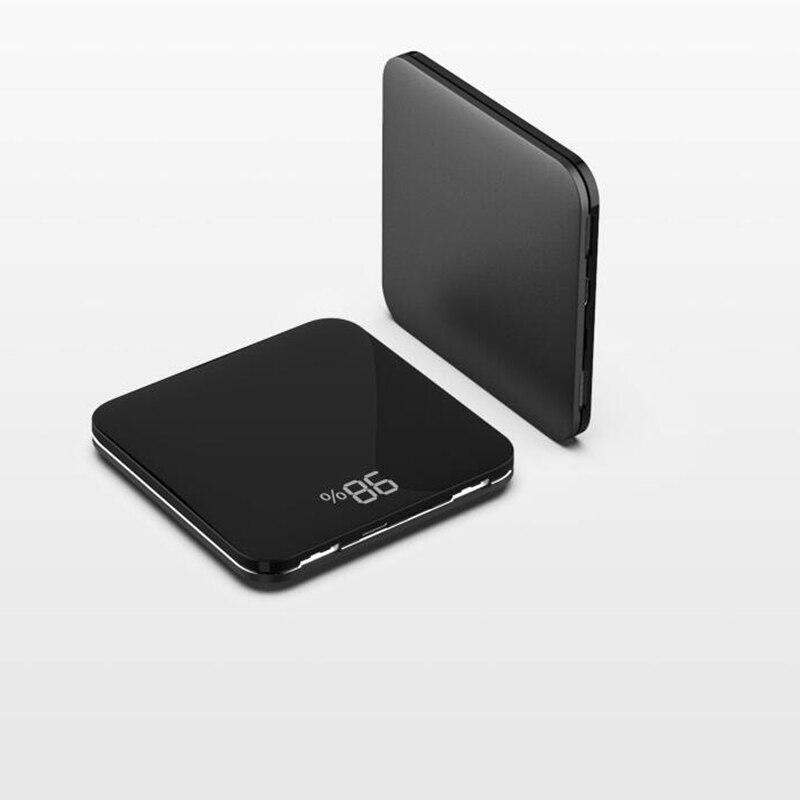56695e797aef8 HOT SALE ~ باور بانك صغير 8000 mah رقيقة مرآة شاشة 2.1A سريع شحن 3 in1  المدمج في خط المحمولة شاحن باوربانك ل iphone xiaomi