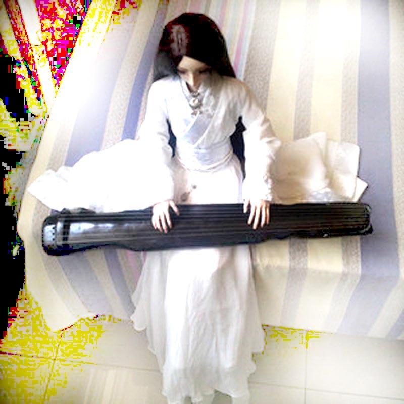 1/3 1/4 accessoires de poupée BJD Guqin bois lyre