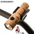 NITENUMEN USB Перезаряжаемый 1060 люмен светодиодный велосипедный передний свет MTB велосипедный фонарик лампа встроенный аккумулятор + задний фона...