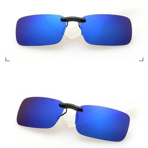 النظارات المستقطبة كليب على القيادة للرؤية الليلية عدسة مكافحة uva uvb الدراجات ركوب المعدات pesca zonnebril كليب