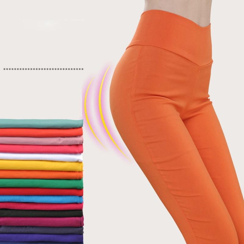 Plus Size 6XL Women's High Waist Pencil Pants Harajaku Solid Bodycon Leggings Trousers Women 2020 Spring Summer Woman Clothes