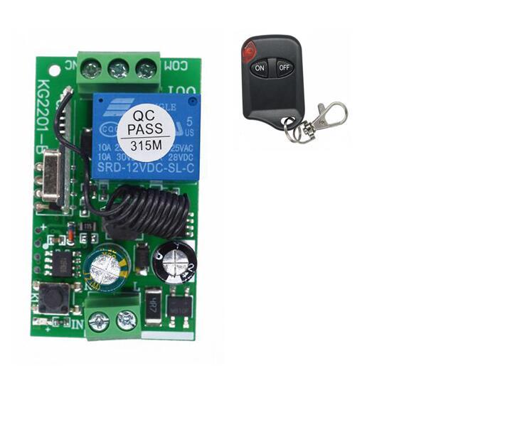 433Mhz AC 85V ~ 250V 110V 220V Relay 1CH Receiver Module and RF 433 Mhz Wireless Transmitter Remote Control Switch