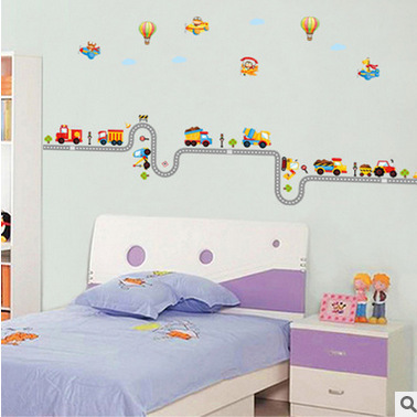 Transports and road wall sticker