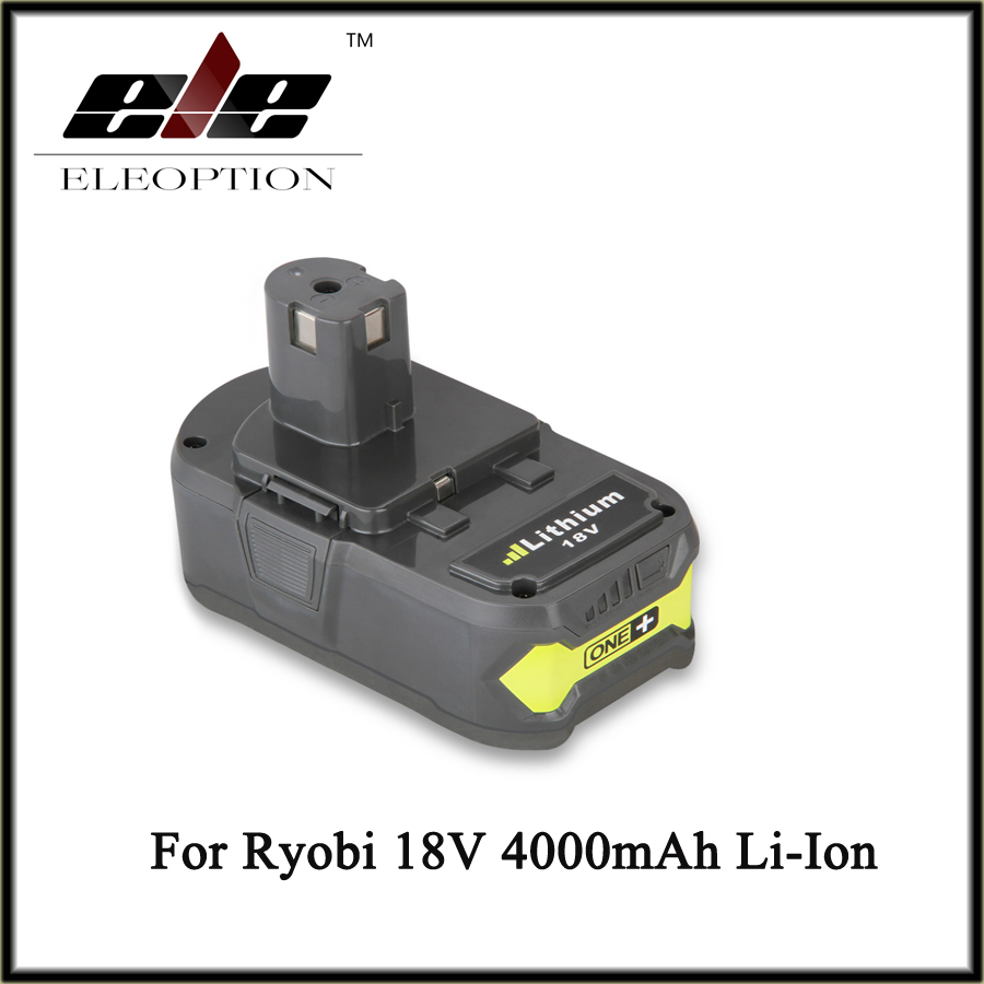 18V 4000mAh Li Ion For Ryobi Hot P108 RB18L40 High Capacity Rechargeable Battery Pack font b
