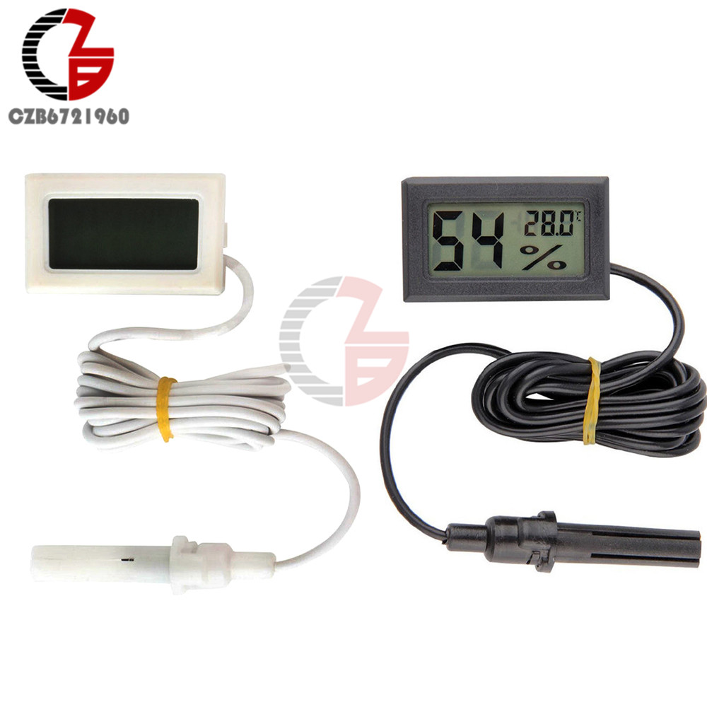 Professional Mini LCD Digital Thermometer Hygrometer Humidity Temperature Moisture Sensor Meter Temperature Gauge Indoor Probe home mini lcd digital display refrigerator electronic temperature meter gauge thermometer temp sensor with probe without battery