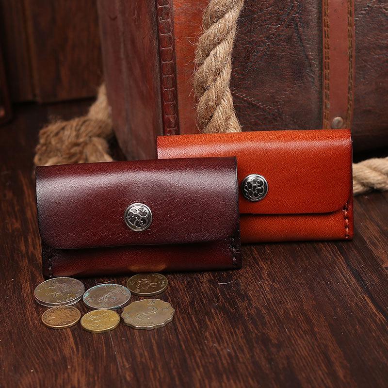 EACME Handmade Leather Business Card Holder for Money Card Bag Name ...