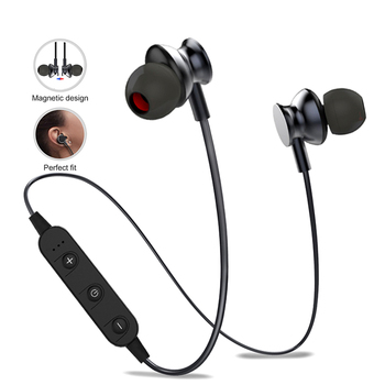 Magnetic Earphone Bluetooth Headphones In ear With Mic Earpiece 3D Stereo Wireless Earbuds Headset Sport Bloototh Head phone Головная гарнитура