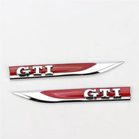Car Wing Side Badge Left and Right Fender Decals For VW Golf GTI MK7 5G0 853 688 L/M JZQ