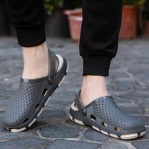 Image 5 - Męskie drewniaki sandały sandały na platformie buty męskie Sandalias letnie buty na plażę Sandalen pantofle Sandalet hombre Sandali nowy 2020