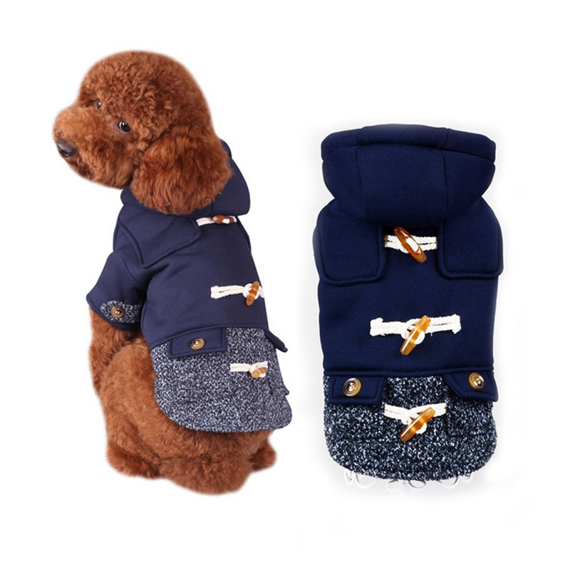 Soft dog pet cat cotton padded jacket coat clothing winter warm cotton dog clothes small medium dog bulldog Chihuahua clothes